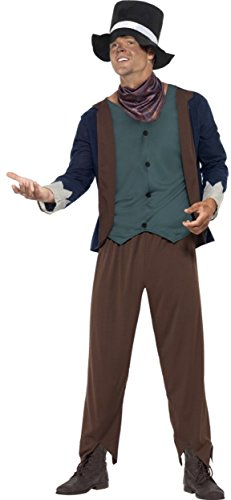 Smiffy's Men's Poor Victorian Man Costume, Top, pants, Hat and Neck Tie, Tales of Old England, Serious Fun, Size M, 43428]()