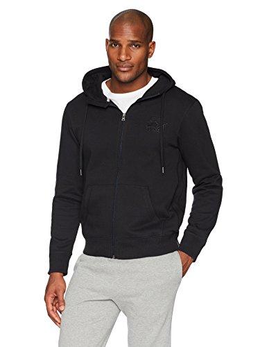 Starter Men's Zip-Up Embroidered Logo Hoodie, Amazon Exclusive, Black, Large