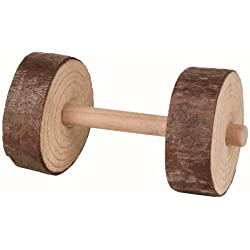 Trixie 2 X Wooden Dumbell Chew Toys By , 9Cm X 4.5Cm Each. For Rabbit Guinea Pigs Ferret Rat