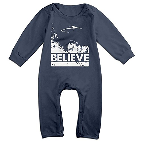 Baby Infant Romper Believe Alien UFO Long Sleeve Jumpsuit Costume Navy 18 Months - Ufo Alien Costume