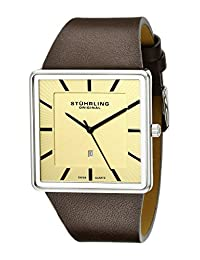 Stuhrling Original Men's Classic Saratoga Swiss Quartz Date Watch White 342.3315K15