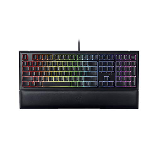 Razer Ornata V2 Hybrid Chroma RGB Gaming Keyboard, Multi-Function Digital and Media Keys with Mecha-Membrane Technology, Black - RZ03-03380100-R3M1