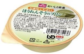 (まとめ) ホリカフーズ 介護食 オイシク栄養(2) ほうれんそうのプリン(12個入) 567423【×