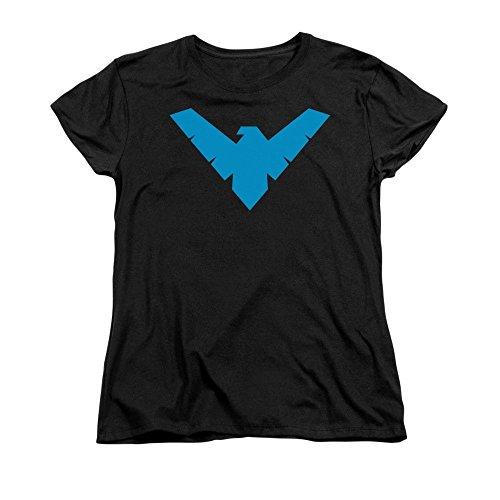 Ptshirt.com-19362-Sons of Gotham - BATMAN Nightwing Symbol Women\'s T-Shirt-B00MGYGQTW-T Shirt Design