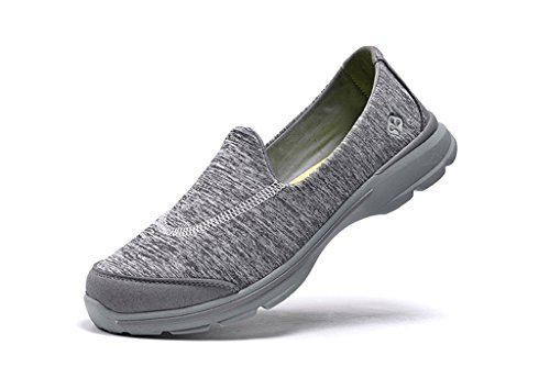 senximaoyi slippery wear-resisting lightweight breathable casual shoes,Grey,7