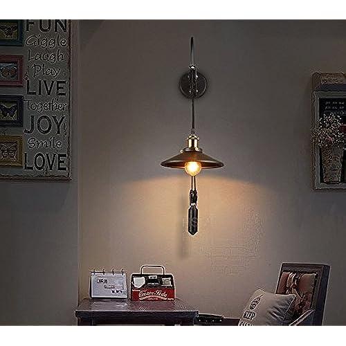 GUOQ Rétro Style Industriel Fer Luminaire Applique Murale Minimaliste Design  Réglable Créatif Couloir Lampe Murale Pour Pour Décoration De Maison ...
