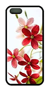 Beautiful Flower Theme Case for iPhone 5c 5c Rubber Material Black Kimberly Kurzendoerfer