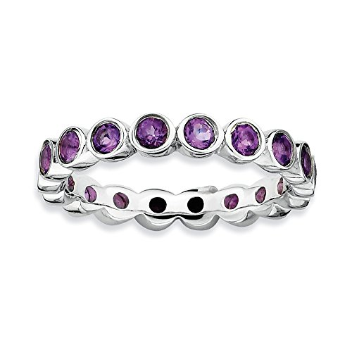 Stackable Expressions Sterling Silver Simulated Amethyst Ring - Size 6 from Stackable Expressions
