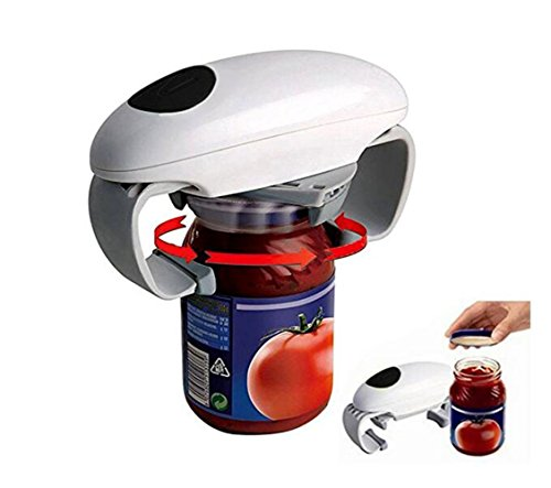 FEC New Kitchen Automatic Jar Opener One Touch Can Tin Opener Kitchen Tool White (Handicap Can Opener compare prices)