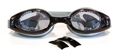 Swim Goggles, Adult Clear Swimming Goggles Anti Fog No Leaking UV Protection for Men Women Youth (Black Gray)