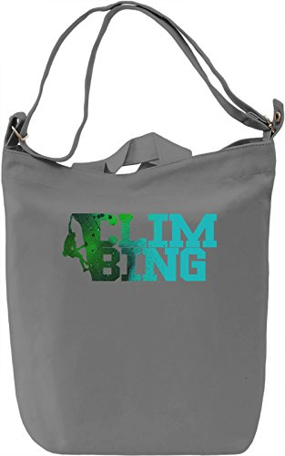 Climbing Borsa Giornaliera Canvas Canvas Day Bag| 100% Premium Cotton Canvas| DTG Printing|