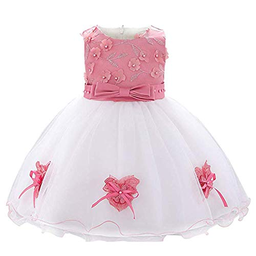 ZaH Baby Formal Dress for Baby Girls Dresses 12-18 Months Toddler Dresses for Special Occasions Dresses for Baby Birthday Dress for Baby Girls Party Dress Baby Communion Dress (L1896XZ,Dusty Rose,80) -