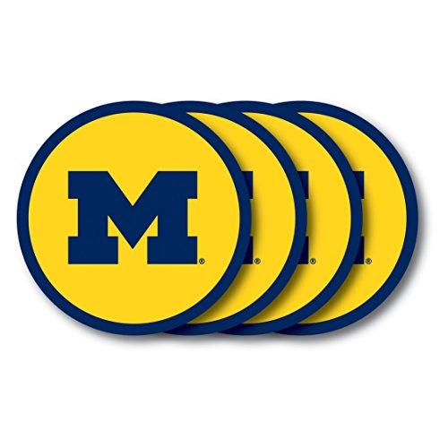 NCAA Michigan Wolverines Vinyl Coaster Set (Pack of 4) ()