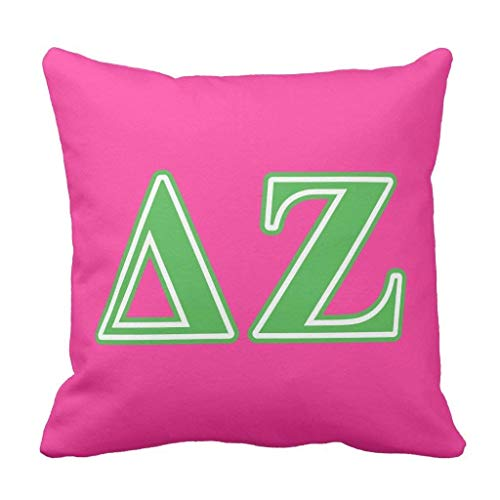 gineaqw Delta Zeta Green Letters Throw Pillow Case Cushion Cover 18