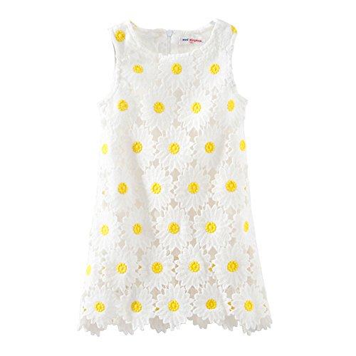 Mud Kingdom Girl's Sunflower Boutique Sundress White - Boutique Sun