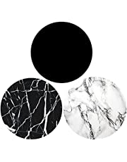 Expanding Cell Phone Mount Grip Stand (3 Pack) - Black White Marble