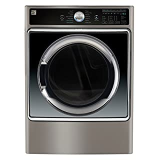 Kenmore Smart 91983 Gas Dryer w/Accela Steam Technology, 9.0 cu. ft. in Metallic Silver-Compatible with Amazon Alexa and enabled with Amazon Dash Replenishment System, includes delivery and hookup