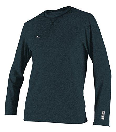 Oneill Hybrid - O'Neill Wetsuits Men's Hybrid UPF 50+ Long Sleeve Sun Shirt, Slate, Small