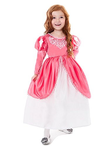Little Mermaid Costume Pink Dress (Little Adventures Traditional Mermaid Ball Gown Girls Princess Costume - Medium (3-5 Yrs))