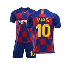 Wlhqf Maillot De Foot pour Enfants De Barcelone - Maillot De Vêtements pour Enfants Messi Suarez Coutinho
