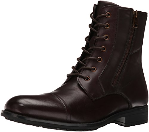 Kenneth Cole REACTION Men's Single Mind Combat Boot, Brown, 10.5 M (Single Sole Boot)