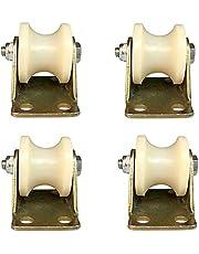 WaiMin (4 stks) U-vormige groef wiel nylon type spoor wiel plastic enkele katrol bewegende deur rijden roestvrij staal maat gids wiel fittingen