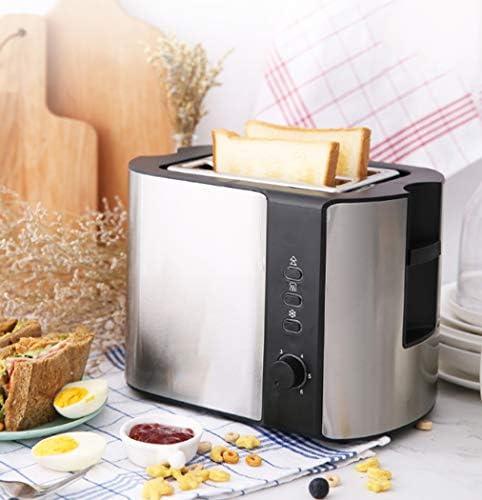 2 tranches Grille-pain Grille-pain de ménage en acier inoxydable Grille-pain Petit-déjeuner avec (Defrost/Réchauffer/Annuler Fonction)