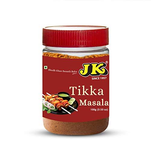 (JK TIKKA MASALA 3.53 Oz, 100g (Tikka Curry Seasoning Simmer Spice Blend Powder - Perfect for Chicken Tikka, Sizzlers & Kabob Skewers, Making Tikka Paste, Masala Spice Mix, Vegan))