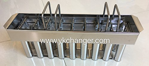 Amazon.com: Ykchanger Frozen Ice pop molds tray stainless steel ice lolly bar mold 2x9 18cavities with stick extractor no need stick aligner: Home & Kitchen