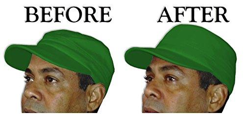 3Pk. Military Hat Crown Half Shaper| Army Cap Shaper| Liner| Hat Storage (Black) by Shapers Image (Image #4)