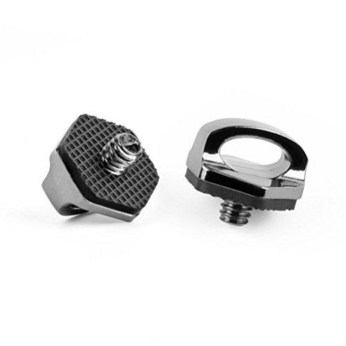 Zecti 1/4 Neck Strap Screw Holder, Camera Screw for Quick Release/Install Neck Strap Sling Wrist Strap Holder for Camera DSLR Canon Nikon Sony Olympus Panasonic Sigma (2 Pack)