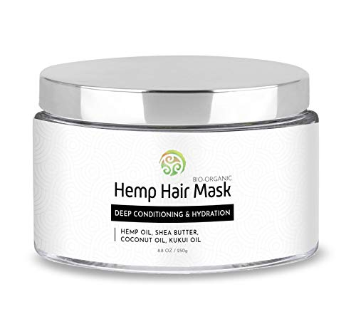 TerraBella Hair Mask - Bio Organic Professional Salon Treatment - Intensely Hydrating Hemp Mask for All Hair Types - Made with All-Natural Nourishing Ingredients - Repairs & Restores Long Hair
