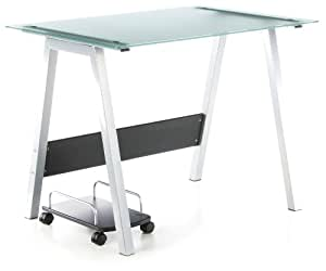 Hjh office 673920 delphi mesa de ordenador en vidrio for Mesa ordenador amazon