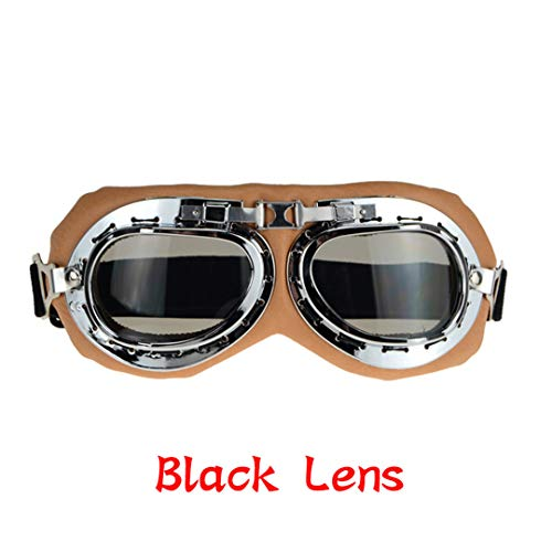 MT&GLAGGLE Biker Motorcycle Goggles Glasses for Helmet Open Face Half Motocross Goggles for Harley Motorbikes b2