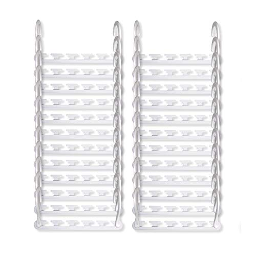 (Wonder Hanger Max New & Improved, Pack of 24-3x The Closet Space for Easy, Effortless, Wrinkle-Free Clothes, Comes Fully Assembled, White)