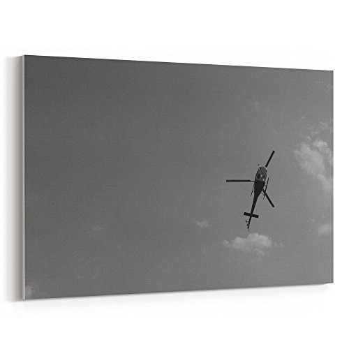 Westlake Art - Helicopter Flight - 32x48 Canvas Print Wall Art - Canvas Stretched Gallery Wrap Modern Picture Photography Artwork - Ready to Hang 32x48 Inch