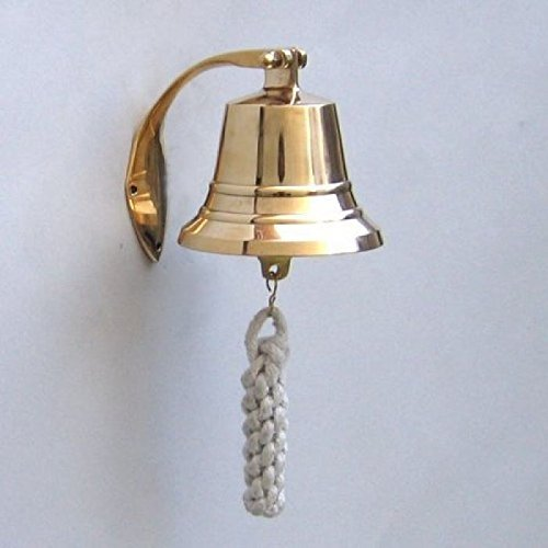 Engraved Bell - Solid Brass BellWall Mount, Raised and Engraved Detailing, 4