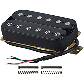 fleor electric guitar humbucker pickups neck alnico v pickup black musical instruments. Black Bedroom Furniture Sets. Home Design Ideas