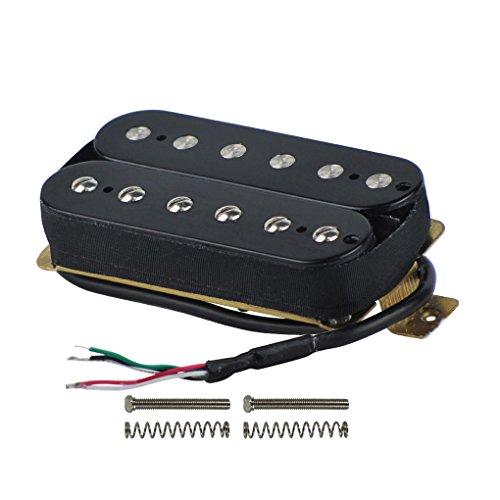 (FLEOR Electric Guitar Humbucker Pickups Neck Alnico V Pickup Black)