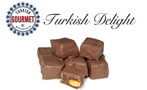 Turkish Gourmet Gift Box Turkish Delight with Chocolate Delight with Double Pistachio 4.4 oz (Delights Large Gift Box)