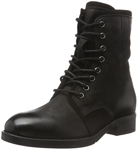 Tamaris 25112, Botas Militar para Mujer Negro (BLACK 001)