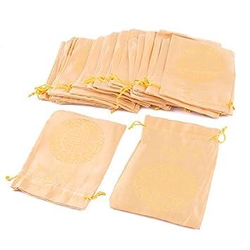 eDealMax Lazo de la boda de sellado Material de Caramelo Bolsa de la joyería 25pcs monedero