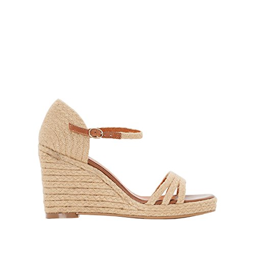 La Redoute Collections Womens Rope Wedge Sandals Natural