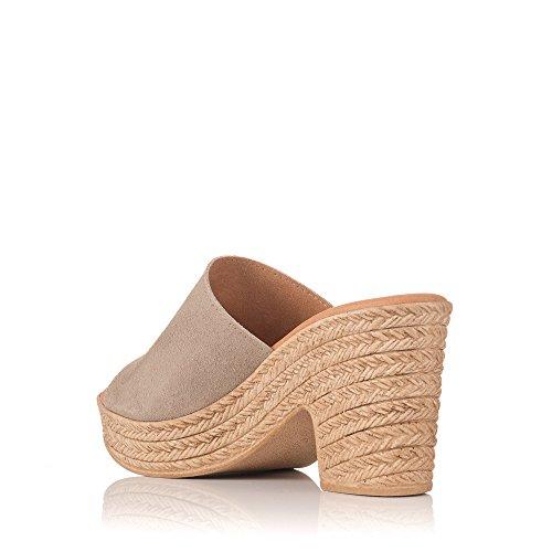 Taupe Sandalia 3914 Sandals Beige My De Oh Piel HH1UX