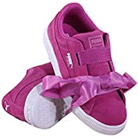 Puma Little Girl's Suede Heart Casual Sneakers