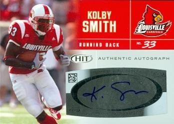 62230 Kolby Smith Autographed Football Card Louisville 2007 Sage Hit Rookie No. A33 ()