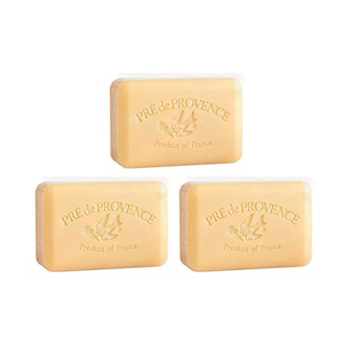 Pre de Provence Sandalwood Shea Butter Enriched Soap, 250 Gram (Pack of 3) (French Sandalwood Soap)
