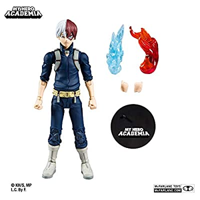 McFarlane Toys My Hero Academia Shoto Todoroki Action Figure: Toys & Games