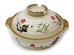 Asian Japanese Style Earthen Cooking Clay Pot Nabe Cd9/P S-2861