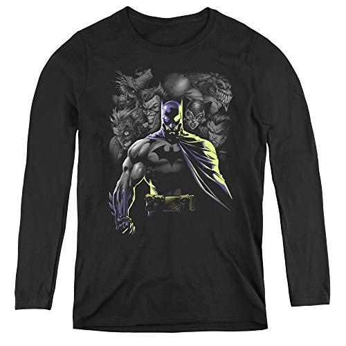 Batman Villains Unleashed Adult Long Sleeve T-Shirt for Women, 2X-Large -